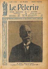 Portrait Auguste Isaac Ministre du Commerce et de l'Industrie 1920 ILLUSTRATION