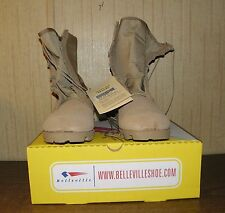 Belleville Hot Weather Boots 14R Leather and Nylon Desert Tan NWT