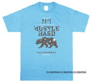 No.1 Hustle Hard Cali Bear Graphic T-shirts Tank Top