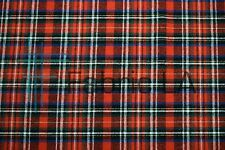 "Cotton Flannel Plaid Tartan Fabric by the Yard #27 - 60""W"