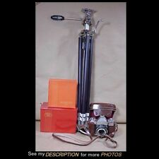 Zeiss Ikon AG Contaflex 35mm Camera & Flash Attachment Tripod Original Boxes