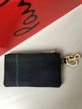 Designer Paul Smith Men Leather Wool/Cashmere Tartan Zip Pouch/wallet BNWT £160