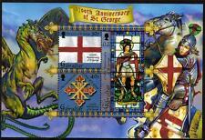 Gibraltar neuf sans charnière 2003 ms1055 1700th mort il de St George minisheet