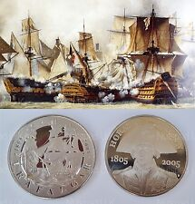 2005 Five Pound coins Proof The Battle of Trafalgar and Horatio Nelson £5 Rare