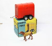 Corgi 102 Rices Pony Trailer With Pony In Its Original Box - Excellent Vintage