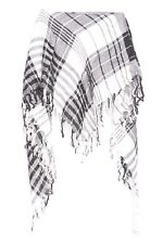 Black & White Soft Square Tartan Every Occasion Wear Scarf  (s35)