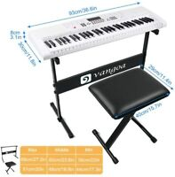 Vangoa VGK6101 Electric Piano Keyboard 61 Lighted Full-size Keys with Stand
