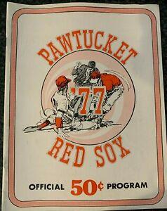 Vintage 1977 Pawtucket Red Sox Program International League