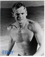 Tab Hunter sexy hunk barechested VINTAGE Photo