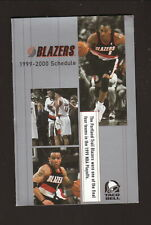 Portland Trailblazers--Stoudamire--Smith--Grant--1999-00 Schedule--Taco Bell