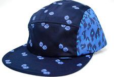 Scout Clothing Co. 5 Panel Dicey Leopard Camper Racer Cap Hat   Blue  OSFM
