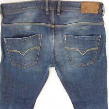 Mens Diesel KROOLEY DNA 008Y3 Regular Slim-Carrot Blue Jeans W36 L34