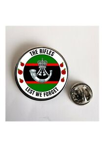 The Rifles Lest We Forget Army lapel pin badge / Key Ring  / Fridge Magnet