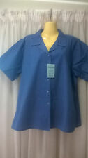 Bisley Ladieswear Shirt, Size 20, bust 115cms, Blue, Short Sleeves, Poly/Cotton