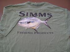 Vintage Simms Fishing Products Mike Stidham T-Shirt Size L
