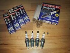 4x Fiat Punto 1.2i 8v y1993-1999 = Brisk YS Silver Electrode Upgrade Spark Plugs