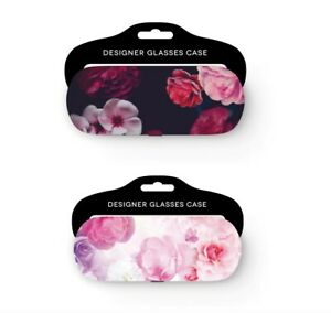 GLAMOUR ESSENTIALS  HARD CASE FLORAL  GLASSES  CASE.   TWO DESIGNS