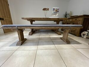 Barker And Stonehouse Covington Reclaimed Wood Dining Bench & 2 Bench Toppers