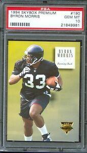 1994 SkyBox Premium #190 BYRON Bam MORRIS Steelers TEXAS TECH Red Raiders PSA 10