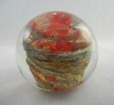 Beautiful Early Isle Of Wight Art Glass Paperweight