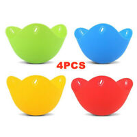 4Pcs Silicone Egg Poacher Cook Poach Pods Egg Mold Bowl Shape Egg Rings Sil #COV