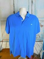 Southern Tide Shipjack Polo Shirt S/S Blue Fish Logo Mens Size Large