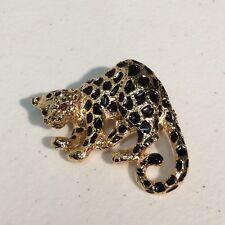 Park Lane Cheetah Big Cat Brooch Pin Pendant Combo Black Spots Red Eyes