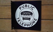 independent  Telephone sign Phone sign flange porcelain