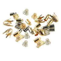 LoveinDIY 50pcs Cord End Caps Tassel Caps Hole DIY Findings Charm Jewelry Finding Gold