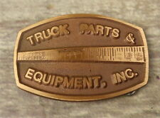 Truck Parts and Equipment Inc Belt Buckle Vintage Trucker Western Business Promo