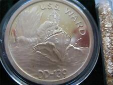 1+.OZ.999 RARE SILVER COIN WWII DEC 7 1941 PEARL HARBOR + GOLD  USS WARD