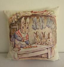 Peter Rabbit Beatrix Potter Lunch Time Linen Blend Childrens Cushion Cover 45cm
