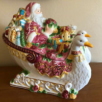 Royal Albert Santa in Sleigh Soup Tureen Seasons of Colour New in Box