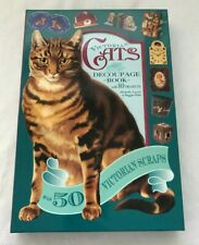 Victorian Cats Decoupage Book Step By Step Projects & 50 Scraps NEW JC401