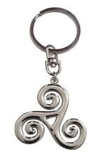 Key ring, bag charm symbol Triskel style Teen wolf, chrome steel