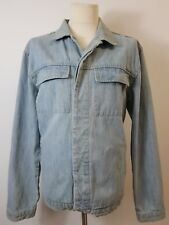 Men's Factory Faded Blue Denim 'Frisco' Jacket by Hugo Boss. Size 52. Chest 46'