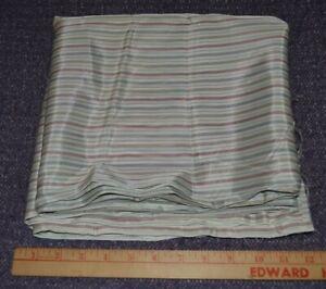 "Vintage satin fabric, thin stripes on white, 44"" x 4.8 yards"