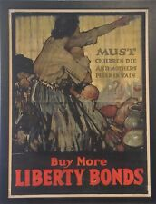 Original WWI Liberty Bonds Poster Framed