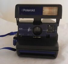 Polaroid 636 Black/Blue Color Model Instant One Step Camera W/ Strap Brand New