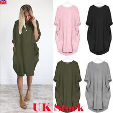Women Oversized Long Sleeve Hoodie Loose Baggy Tops Jumper Dress Pullover Winter