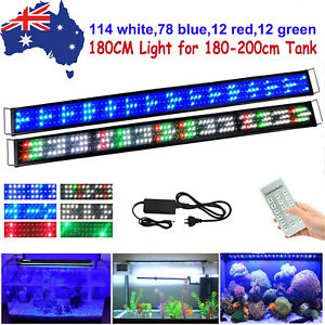 180CM LED Aquarium Light Full Spectrum Marine Fish Plant Tank Lighting RF Dimmer