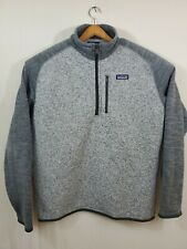Patagonia Men's 1/4 Zip Better Sweater Knit Pullover Jacket Xl Two Tone