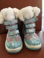 Girls Frozen Winter Snow Boots From Tu- size 1 Great for the Snow Used