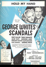 "GEORGE WHITE'S SCANDALS Sheet Music ""Hold My Hand"" Alice Faye Rudy Vallee"