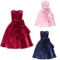 Tutu baby princess party dress flower formal kid girl wedding bridesmaid dresses