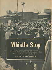 1956 President Nominee Campaign by Railroad Railway Train Presidential History