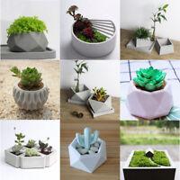 DIY Silicone Concrete Mold Geometric Flower Pots Cement Vase Mould Handmade Tool