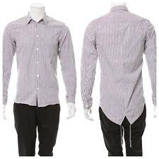 "Helmut Lang Vintage Striped Fishtail Drawstring Back Shirt Sz IT 40 15.75"""