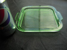 EAPG Early American New Martinsville Green Glass Vanity Decanter Tray