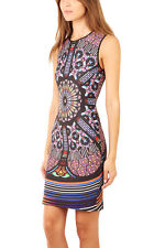 NWT CLOVER CANYON  bodycon neoprene Stained Glass  dress size XS - $315